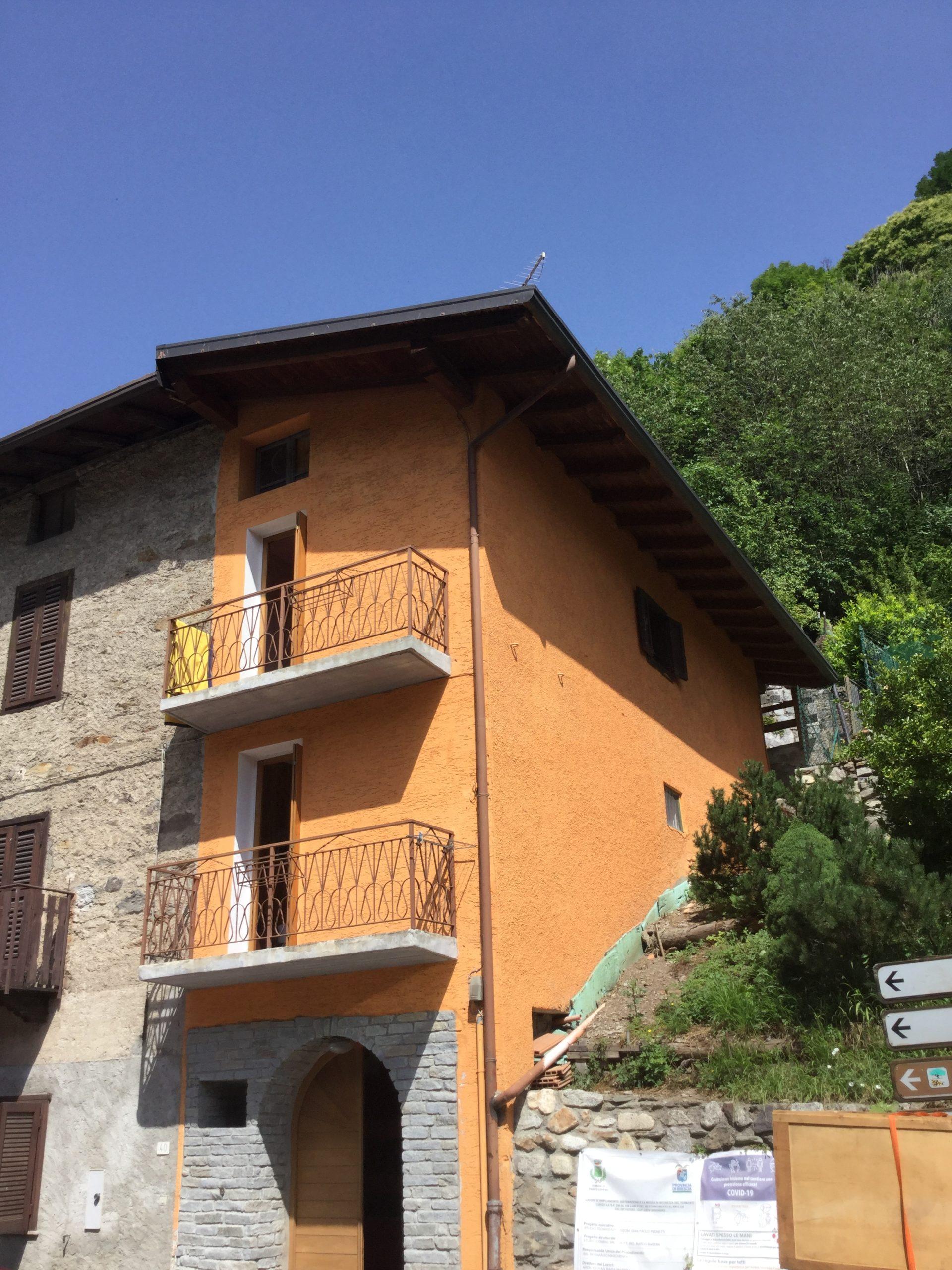 Alta valle Camonica -Passo Vivione porzione di casa con giardino